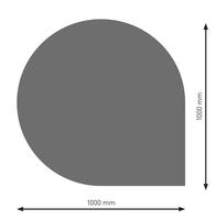 Bodenplatte Stahl B6 Tropfen gussgrau pulverbeschichtet 1000 x 1000mm
