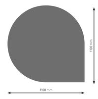 Bodenplatte Stahl B6 Tropfen gussgrau pulverbeschichtet 11000 x 1100mm