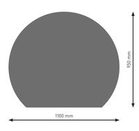 Bodenplatte Stahl B7 Kreisabschnitt gussgrau pulverbeschichtet 1100 x 950mm