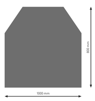 Bodenplatte Stahl B2 Sechseck gussgrau pulverbeschichtet 800 x 1000mm