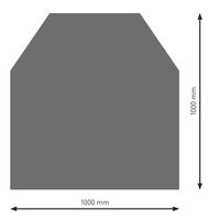 Bodenplatte Stahl B2 Sechseck gussgrau pulverbeschichtet 1000 x 1000mm