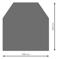 Bodenplatte Stahl B2 Sechseck gussgrau pulverbeschichtet 1200 x 1000mm