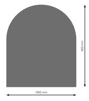 Bodenplatte Stahl B3 Halbrund gussgrau pulverbeschichtet 800x1000mm