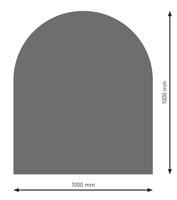 Bodenplatte Stahl B3 Halbrund gussgrau pulverbeschichtet 1000 x 1000mm