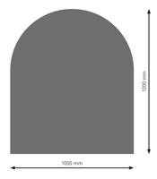 Bodenplatte Stahl B3 Halbrund gussgrau pulverbeschichtet 1200 x 1000mm