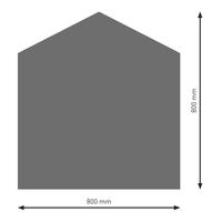 Bodenplatte Stahl B4 Fünfeck gussgrau pulverbeschichtet 800 x 800mm