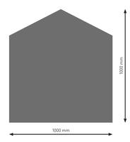 Bodenplatte Stahl B4 Fünfeck gussgrau pulverbeschichtet 1000 x 1000mm