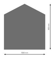Bodenplatte Stahl B4 Fünfeck gussgrau pulverbeschichtet 800 x 1000mm
