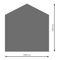 Bodenplatte Stahl B4 Fünfeck gussgrau pulverbeschichtet 1200 x 1000mm