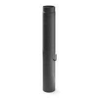 Rauchrohr 130mm x 1000mm 2mm mit Drosselklappe gussgrau
