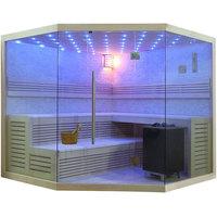 EOSPA Sauna B1101C Pappelholz 180x180 9kW EOS BiOMAX