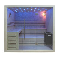 EOSPA Sauna B1102A Pappelholz 220x200 9kW EOS BiOThermat