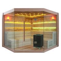 EOSPA Sauna E1415C rote Zeder 180x180 9kW EOS Cubo