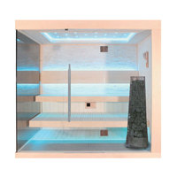 EOSPA Sauna E1245C Pappelholz 180x180 9kW Kivi