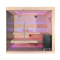 EOSPA Sauna E1245B Zedernholz 200x180 9kW EOS Cubo