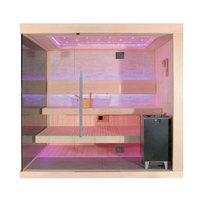 EOSPA Sauna E1245C Zedernholz 180x180 9kW EOS Cubo