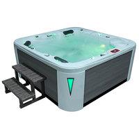 EOSPA Aussenwhirlpool IN594 premium extreme SilverMarble 215x215 grau