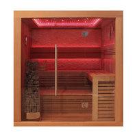 EOSPA Sauna E1241A rote Zeder 220x170 9kW Kivi