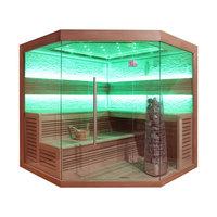 EOSPA Sauna E1242A rote Zeder 220x220 9kW Kivi