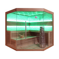 EOSPA Sauna E1242C rote Zeder 180x180 9kW Kivi