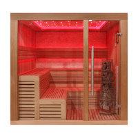 EOSPA Sauna E1243A rote Zeder 220x200 9kW Kivi