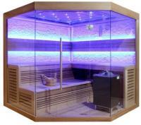 EOSPA Sauna E1242 XL rote Zeder 250x250 12kW EOS Cubo