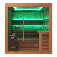 EOSPA Sauna B1241A rote Zeder 220x170 9kW EOS BiOThermat