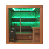 EOSPA Sauna B1241C rote Zeder 180x170 9kW EOS BiOThermat