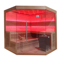 EOSPA Sauna B1242B rote Zeder 200x200 9kW EOS BiOMax