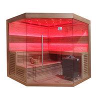 EOSPA Sauna B1242C rote Zeder 180x180 9kW EOS BiOMax