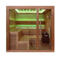 EOSPA Sauna B1243A rote Zeder 220x200 9kW EOS BiOThermat