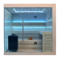EOSPA Sauna B1246C Pappelholz 180x180 9kW EOS BiOMax