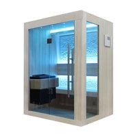 EOSPA Sauna B1252C Pappelholz 100x110 3kW EOS BiOMini