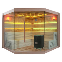 EOSPA Sauna B1415A rote Zeder 220x220 9kW EOS BiOCubo