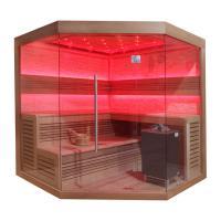 EOSPA Sauna B1242 XL rote Zeder 250x250 12kW EOS BiOMax