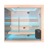 EOSPA Sauna B1245A Pappelholz 220x180 9kW EOS BiOThermat