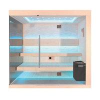 EOSPA Sauna B1245B Pappelholz 200x180 9kW EOS BiOThermat