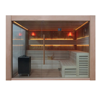 EOSPA Sauna E1416B rote Zeder 250x250 12kW EOS Cubo