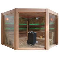 EOSPA Sauna E1501B rote Zeder 250x250 12kW EOS Cubo