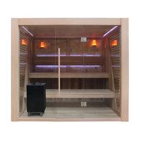 EOSPA Sauna E1502B rote Zeder 250x200 12kW EOS Cubo