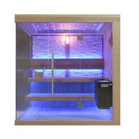 EOSPA Sauna B1245C rote Zeder 180x180 9kW EOS BiOThermat