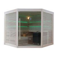 EOSPA Sauna B1403A Pappelholz 220x220 9kW EOS BiOCubo