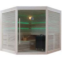 EOSPA Sauna B1403B Pappelholz 200x200 9kW EOS BiOCubo