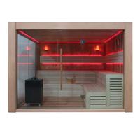 EOSPA Sauna B1416B rote Zeder 250x250 12kW EOS BiOCubo