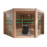 EOSPA Sauna B1501A rote Zeder 300x300 12kW EOS BiOCubo