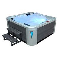 EOSPA Aussenwhirlpool IN594 premium Gypsum 215x215 grau