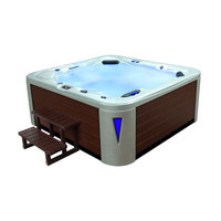 EOSPA Aussenwhirlpool IN593 premium WhitePearlscent 235x225 braun