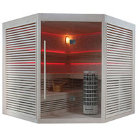 EOSPA Sauna E1403B Pappelholz 200x200 9kW Cilindro