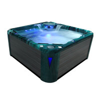 EOSPA Aussenwhirlpool IN598 premium extreme MysticEmerald 235x235 grau