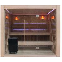 EOSPA Sauna E1502C rote Zeder 200x180 9kW EOS Cubo